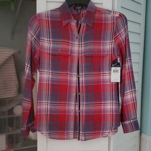 Chaps flannel top